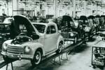 Das Fiat-Werk Heilbronn im Jahr 1953. Hier rollte der Topolino 500 C vom Band.