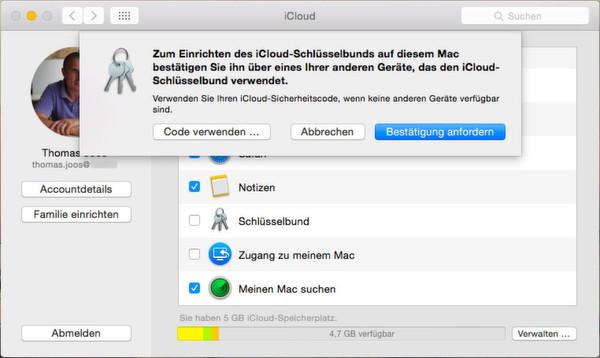 Login-Daten zwischen Mac OS X und iOS synchronisieren