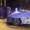 BMW-Erlkönig rammt Polizeitransporter