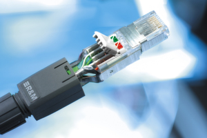 Schneidklemmtechnik — wie der FM45 von R&M — vereinfacht das Beschalten moderner Steckerlösungen auch für industrielle Anwendungen.