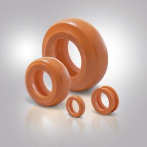 Die Fibro Hochleistungsdämpfer aus thermoplasti-schem Elastomer erhöhen die Prozessstabilität moder-ner Servopressen, indem sie die auf die Haltelemente wirkenden Energien zuverlässig absorbieren.