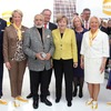 Prominenter Besuch am Harting-Stand