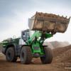 Grüner Radlader: 25 Tonnen schwer und trotzdem energieeffizient