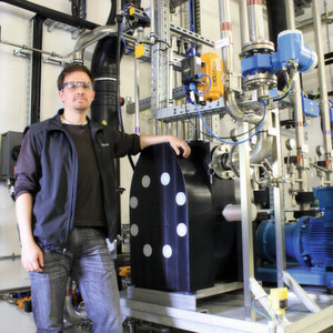"Florian Habeck, Assistant Tank Manager for Roche Diagnostics, relies on Atex-certified Almatec AODD pumps for reliable, efficient, and safe handling of flammable solvents used in pharmaceutical production. The high-capacity Almatec E80 Series pump is affectionately known around the plant as ""Big Bertha""."