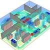 Luftzirkulation im Serverraum simuliert