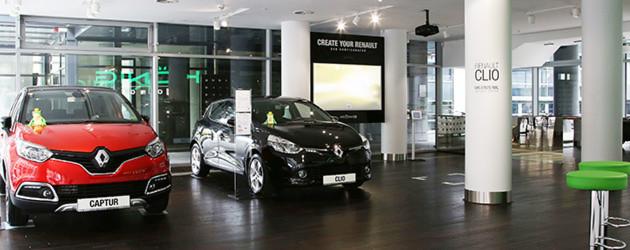 Renault König: Autolounge in Luxuslage
