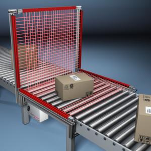 Der Light Grid Cube basiert auf Infrarottechnologie und soll ein prozesssicheres Erkennen der Maximalabmessungen beliebiger Versandobjekte garantieren.