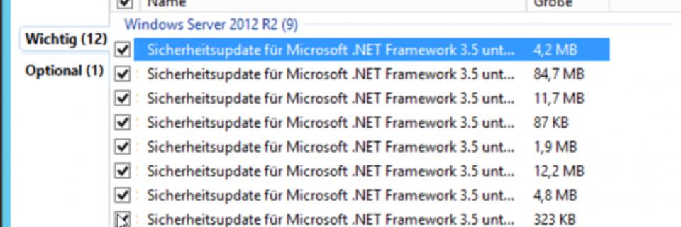 SCOM 2012 R2 und SCOM-Datenbanken mit neuen Updates aktualisieren
