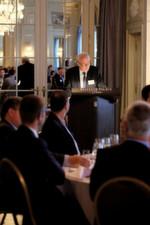 """Aus der Begrüßungsansprache des Gastgebers Rubino Mordasini, Präsident des Medical Clusters: """"Die Medtech-Unternehmen müssen sich seit rund zehn Jahren auf ein ständig änderndes Marktumfeld einstellen – angefangen beim immer stärkeren Schweizer Franken über den Preisdruck bis zu den wachsenden Regulierungen."""""""