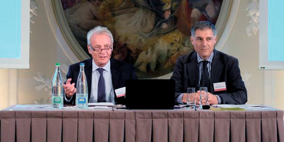 """Fazit von Peter Biedermann (re.), Geschäftsführer des Medical Clusters: """"Der Swiss Medtech Day hat das Potenzial, eine große Klammer um die ganze Industrie zu bilden."""""""