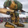 Zweikampf der Riesenroboter