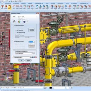 HiCAD des Anbieters ISD ist eine CAD-Lösung für die Prozesskette im Anlagenbau.
