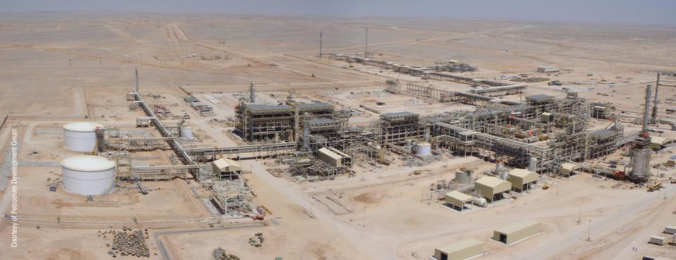 """Erdgasfeld """"Rabab Harweel"""" im Süden des Omans"""