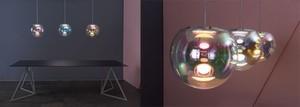 Die OLED-Leuchte IRIS schwebt wie eine Seifenblase. Elektronik und Aufhängung war für die Entwickler keine leichte Aufgabe.