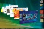 Die in Windows Vista eingeführte grafische Nutzeroberfläche 'Aero' war unter anderem in der Lage, Desktopfenster auch in einer 3D-Ansicht zu präsentieren.