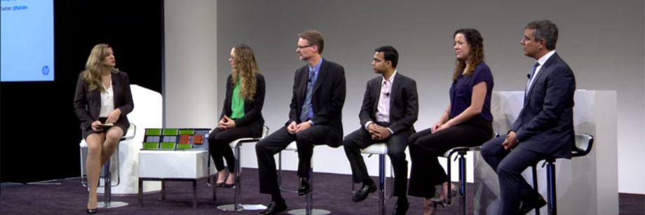 Erstmalig in der Öffentlichkeit: Das Team von HP Labs präsentierte seine Forschungsergebnisse auf der Kundenkonferenz Discover im Juni 2015.