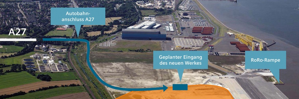 Siemens baut Windkraft-Fabrik in Cuxhaven