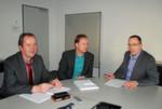 Sind mit dem Erreichten sehr zufrieden (v.l.): Josef Gallersdörfer (Projektmanager Witron), Andreas Prokisch (Projektleitung Logistik Phoenix Contact) und Thomas Vasterling (VP Supply Chain Services Phoenix Contact).