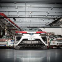 Toyota Mirai als Vorausfahrzeug bei der ADAC Rallye Deutschland