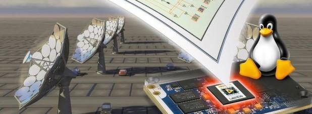 """Bild 1: Die Embedded-Anwendung der """"Sonnenblume"""" ist grafisch mit LabVIEW programmiert und wird als robuster Echtzeit-Code auf Linux und ARM-Mikrocontroller betrieben."""