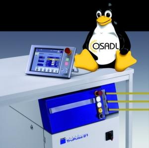 Der Laser Tru-Pulse 21 von Trumpf basiert auf dem Betriebssystem Linux. Trumpf ist auch Gründungsmitglied des Open Source Automation Development Lab (OSADL eG), das die Entwicklung von Open-Source-Software in der Automatisierungsindustrie fördert. Bild: Trumpf