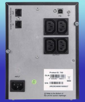Die NAS-Anschlüsse des Modells AEG PS Protect B 500 / 750
