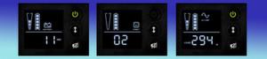 Das Display zeigt die Überbrückungszeit, Fehlermeldungen und die Last in Watt.