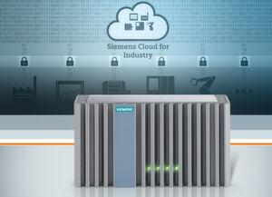 """Siemens treibt den Ausbau seiner offenen Plattform """"Siemens Cloud for Industry"""" als Basis neuer digitaler Geschäftsmodelle für Industrieunternehmen voran: Die neue Connector Box ist ein Simatic IPC basiertes Cloud Gateway, welches die einfache und sichere Erfassung und Übertragung von Maschinen- und Anlagendaten in die Cloud ermöglicht."""