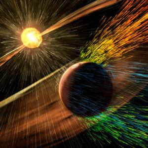 Sonnenwinde raubten Mars die Atmosphäre – und das Wasser
