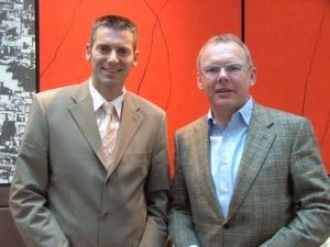 Reinhold Käfer, Deutschland-Geschäftsführer (l.) und Harald Wentsch, Director EMEA, erläutern ihre Unternehmensstrategie.