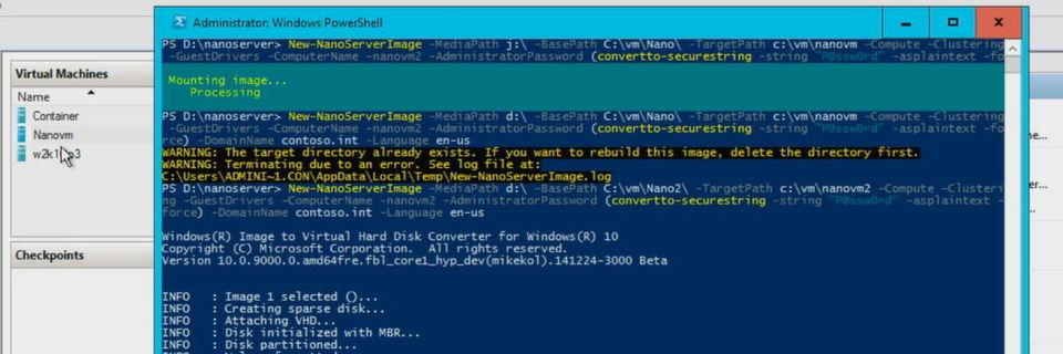 Wer Windows Server 2016 als Nano-Server aufsetzen möchte, muss ein Windows Image File dafür verwenden.