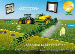 Auf der Agritechnica 2015 vorgestellt und ausgezeichnet: Connected Crop Protection mit Pflanzenschutz-Anwendungs-Manager von John Deere.