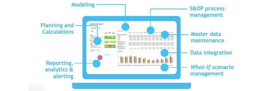 Die Vorteile der mehrdimensionalen Planungs-Engine von Anaplan zeigen sich zum Beispiel an dieser Planung für den Verkauf.