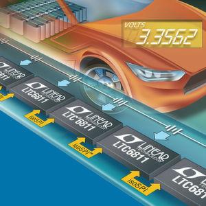 Komplette Batterieüberwachung für Hybrid- und E-Fahrzeuge in einem Chip