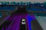 Aus den ermittelten Daten erstellt das System eine virtuelle 3D-Karte zur digitalen Darstellung der Fahrzeugumgebung.