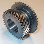 Getriebenes Gangrad des 6. Ganges aus Pulvermetall eines manuellen Schaltgetriebes.