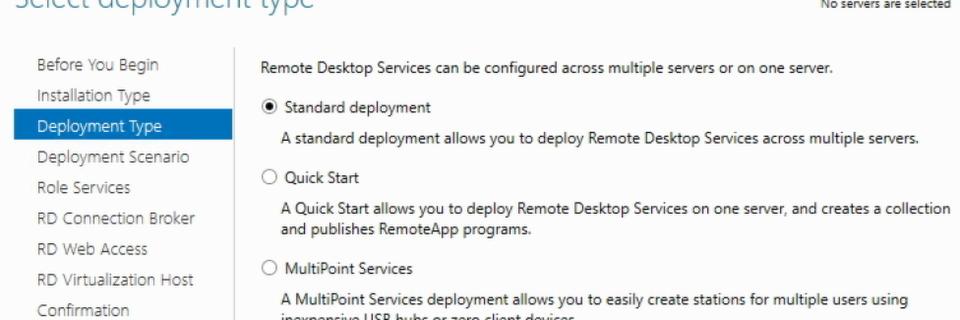 Einrichten einer Remotedesktop-Sitzungs-Umgebung