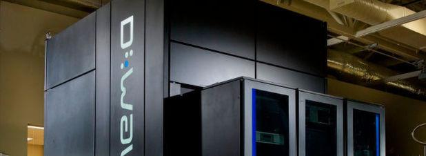 Quantencomputer von D-Wave Systems: 2013 kauften Google und die NASA gemeinsam das System, das eine Rechenleistung von 512 Qbits erbringen soll. Laut Google könne das Unternehmen nun bestätigen, dass das System in der Lage ist, bestimmte Rechenaufgaben 100 Millionen mal schneller als auf herkömmlichen Computern durchzuführen.