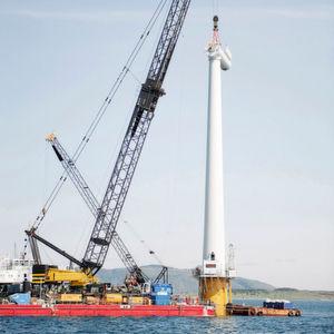 Windturbinen für weltweit größten schwimmenden Windpark