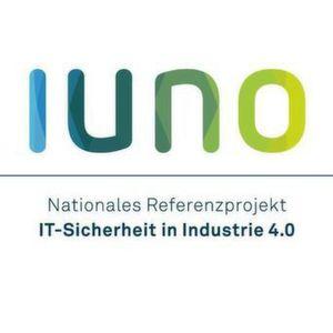 Offizielles Logo von IUNO, dem Nationalen Referenzprojekt IT-Sicherheit in Industrie 4.0