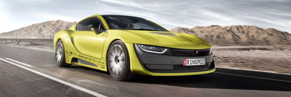 """Die Zukunft des Fahrens: Rinspeed zeigt mit dem selbstfahrenden und mit einer Drohne ausgestatteten Concept Car """"Σtos"""" die Möglichkeiten, aber auch Fragen der Automobilen-Zukunft auf."""