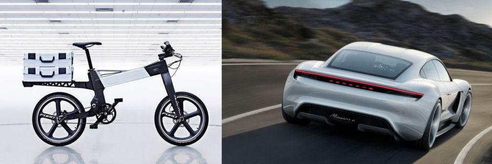 Das faltbare Smartbike der Ford Motor Company soll mehr Autofahrer aufs Rad bringen. Der Porsche Mission E mit 600 PS und 500 km Reichweite wurde auf der IAA in Frankfurt vorgestellt.