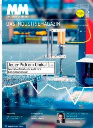 Die Titelseite des MM MaschinenMarkt 50/51/2015 zeigt noch den Index aus KW 49. In der 52. Woche sah die Entwicklung aber deutlich besser aus.