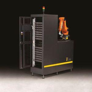 Automationslösungen wie zum Be- und Entladen von Werkzeugmaschinen mit integrierter Bildverarbeitung entwickelt HBI Robotics.