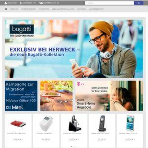 Der Shop von Herweck ist nun im responsive Design.