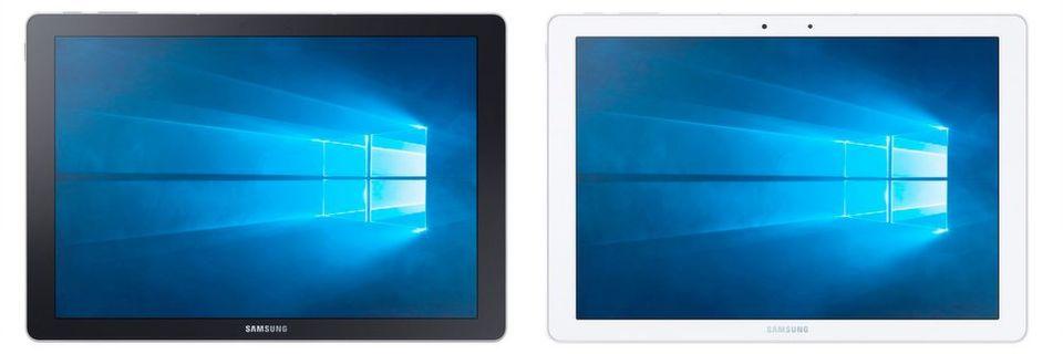Windows 10 statt Android: Mit dem Galaxy TabPro S ringt Samsung nun doch wieder ein Windows-Gerät auf den deutschen Markt. Das 12-Zoll-Tablet gibt es in Schwarz und in Weiß.