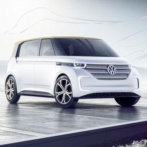 VW zeigt auf der US-Elektronikmesse CES in Las Vegas die Studie eines E-Kleinbusses.
