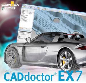 CAD-Doctor EX 7 mit verbesserter Geometrievereinfachung und Hüllgeometrie-Funktion soll beste Datenqualität erzielen, die Entwicklungszeit verkürzen und den Produktionsprozess straffen.