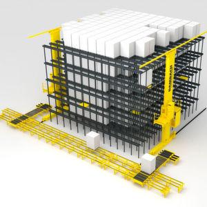 Energiespeicher in den Dambach-Regalbediengeräten reduzieren die Netzanschlussleistung um den Faktor 5.