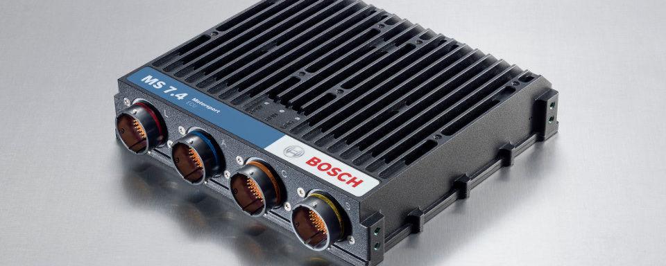 Das MS 7.4 ergänzt die Profi-Steuergeräte von Bosch Motorsport und kann in Tourenwagen, Langstrecken- und Rallyefahrzeugen eingesetzt werden.